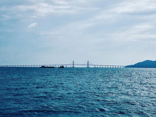 Penang Bridge Seaside View by Pei Gee