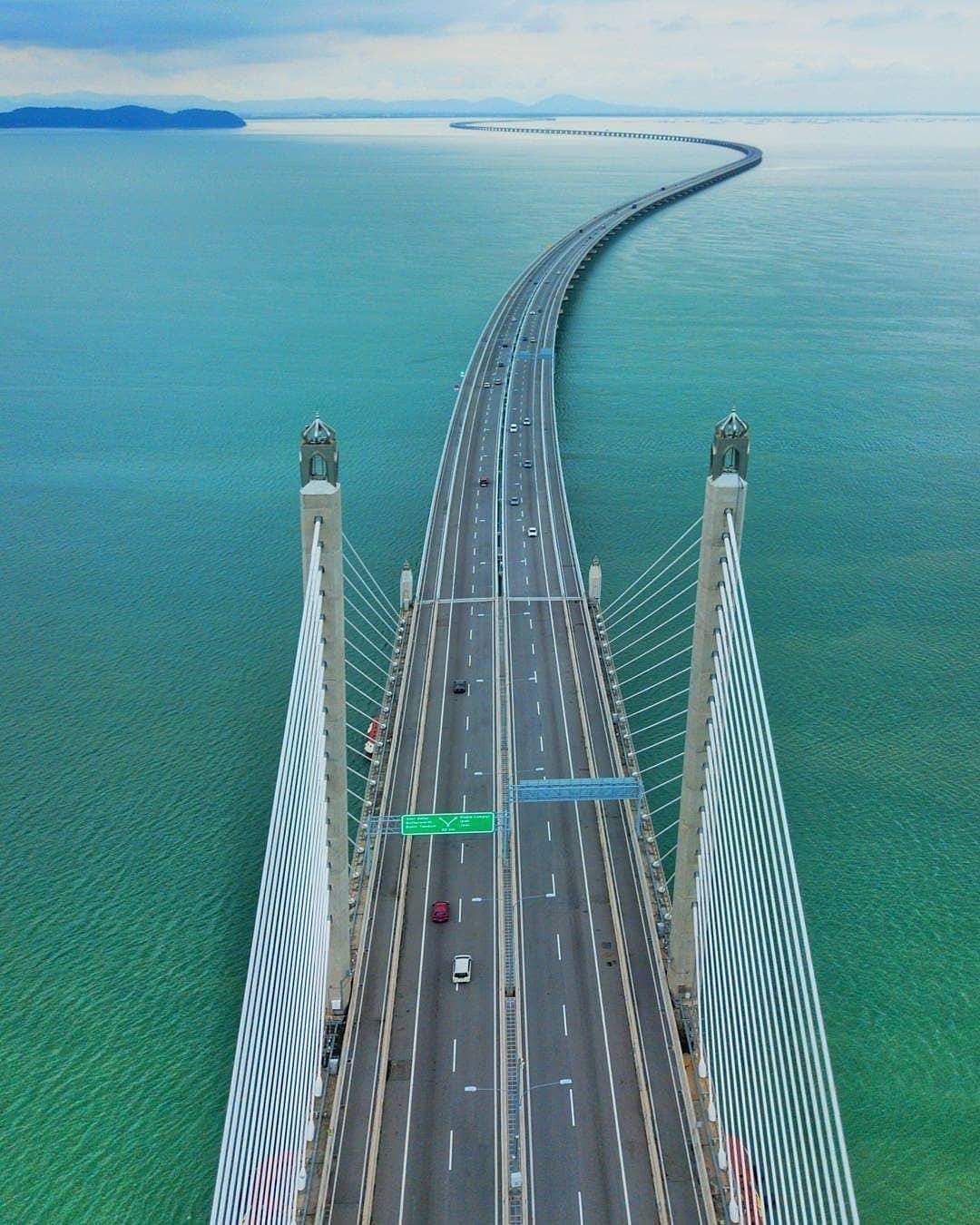 Penang Bridge Bird's Eye View by Seasia