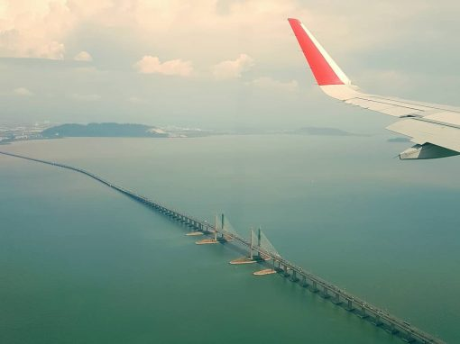 Penang Bridge 2 flight view