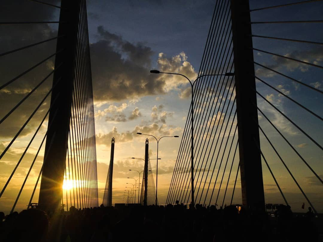 Penang Bridge Sunset View by Nadim