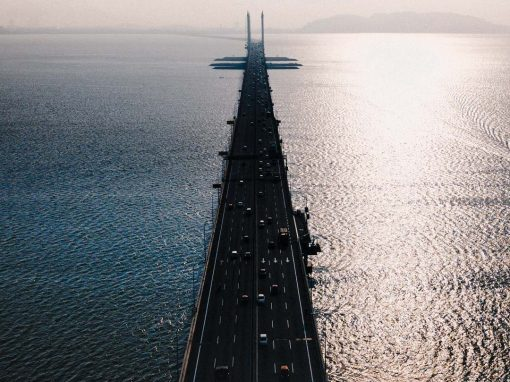 Penang Bridge bird's-eye view by Dronifystore