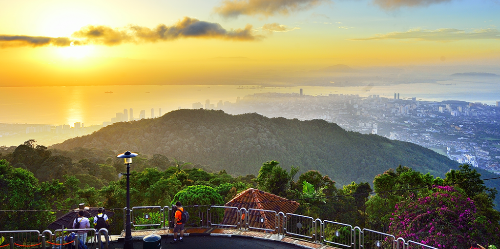 Panoramic view of Penang from Penang Hill