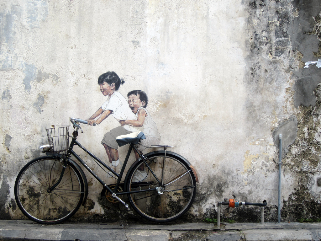 Little Children on a Bicycle, Ernest Zacharevic