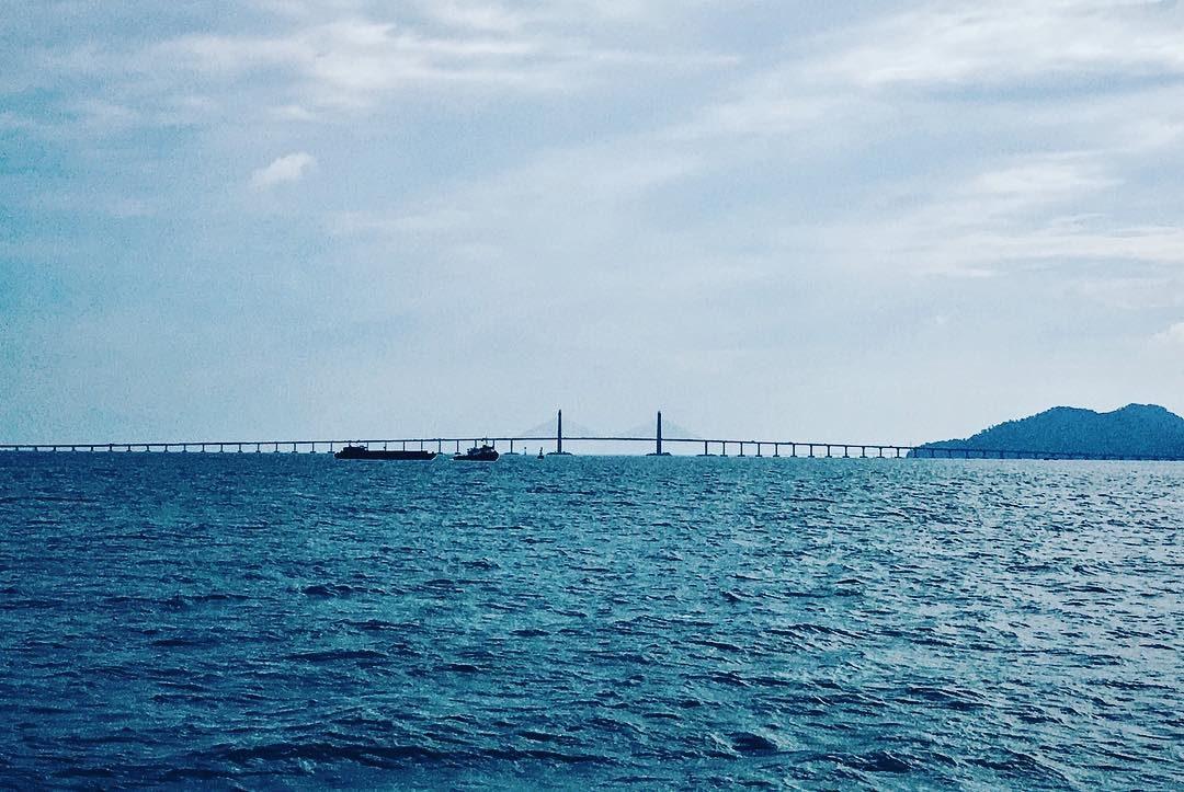 Penang Bridge Seaside View by Pei Gee
