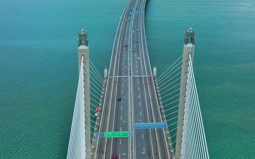 Penang Bridge Bird's Eye View by Seasia