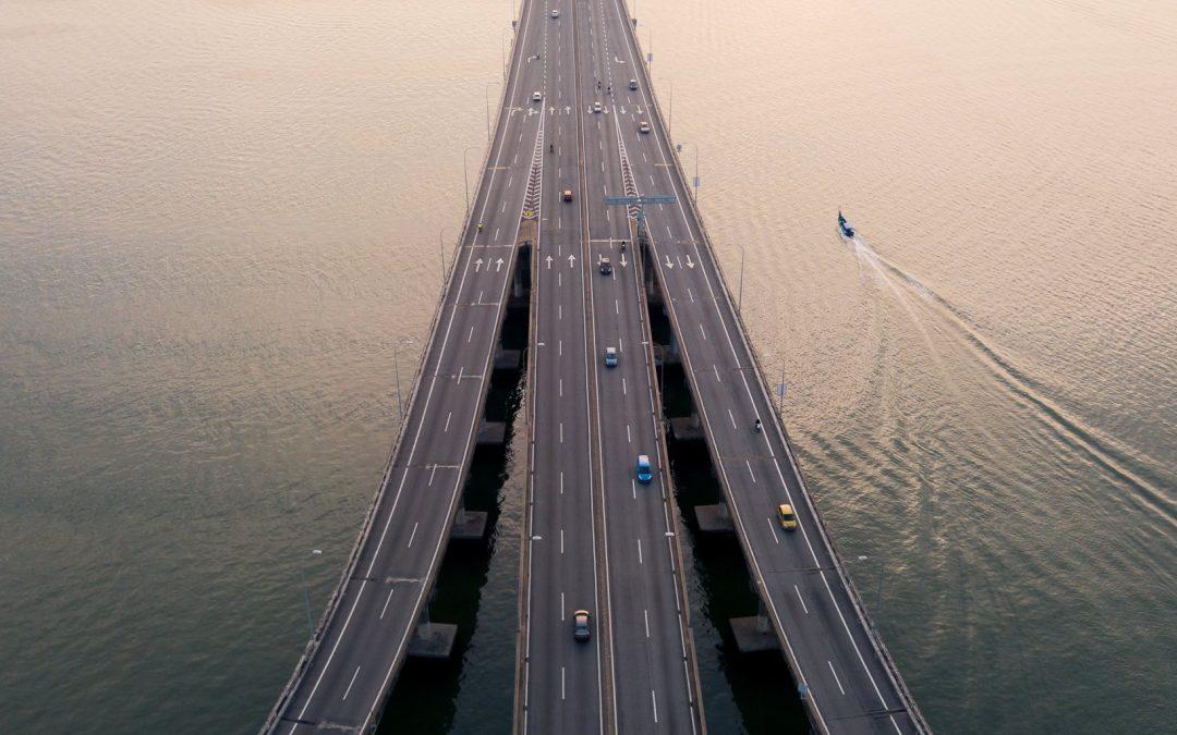 Penang Bridge 2 View by Jennifer