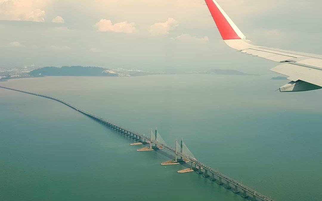 Penang Bridge 2 flight view