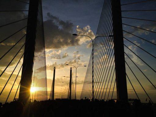 Penang Bridge Sunset View by Nadim