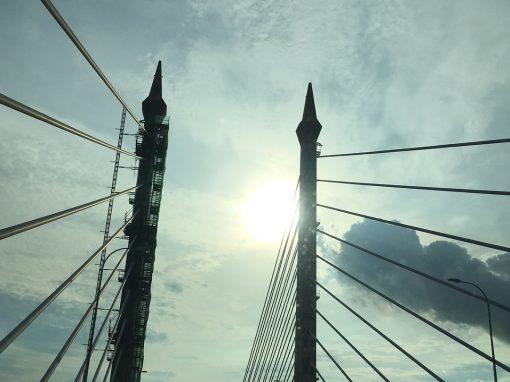 Penang Bridge Sky View by Joycy Lim