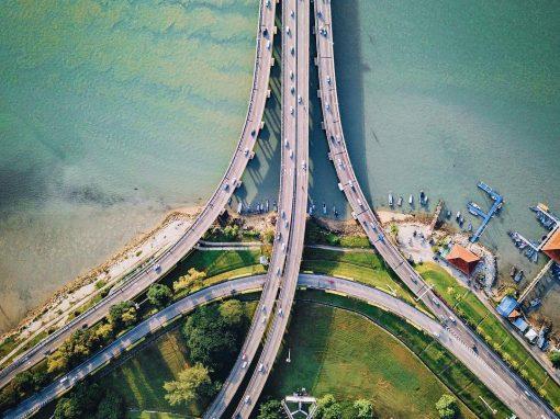 Penang Bridge bird's-eye view by Jack